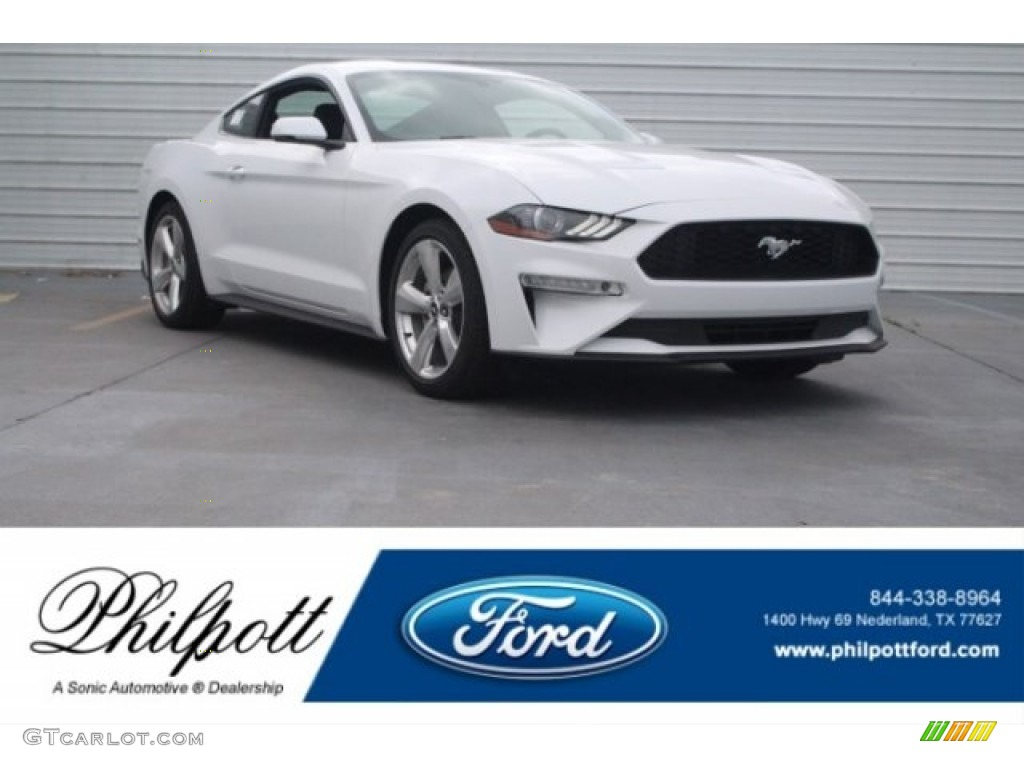 2018 Mustang EcoBoost Premium Fastback - Oxford White / Ebony photo #1