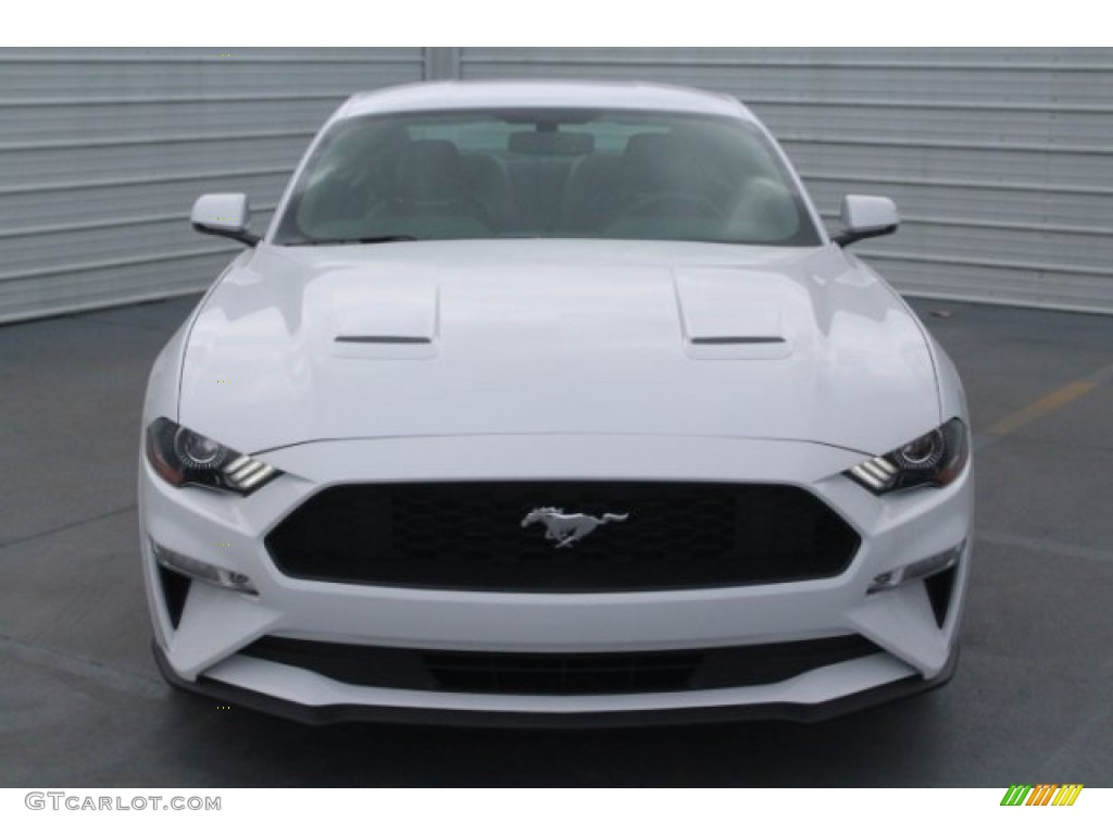 2018 Mustang EcoBoost Premium Fastback - Oxford White / Ebony photo #2