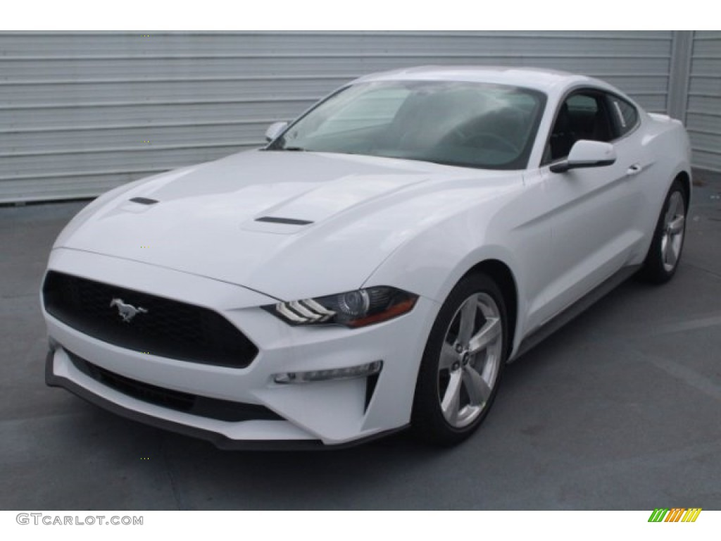 2018 Mustang EcoBoost Premium Fastback - Oxford White / Ebony photo #3