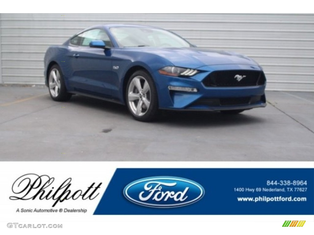 2018 Mustang GT Premium Fastback - Lightning Blue / Ebony photo #1