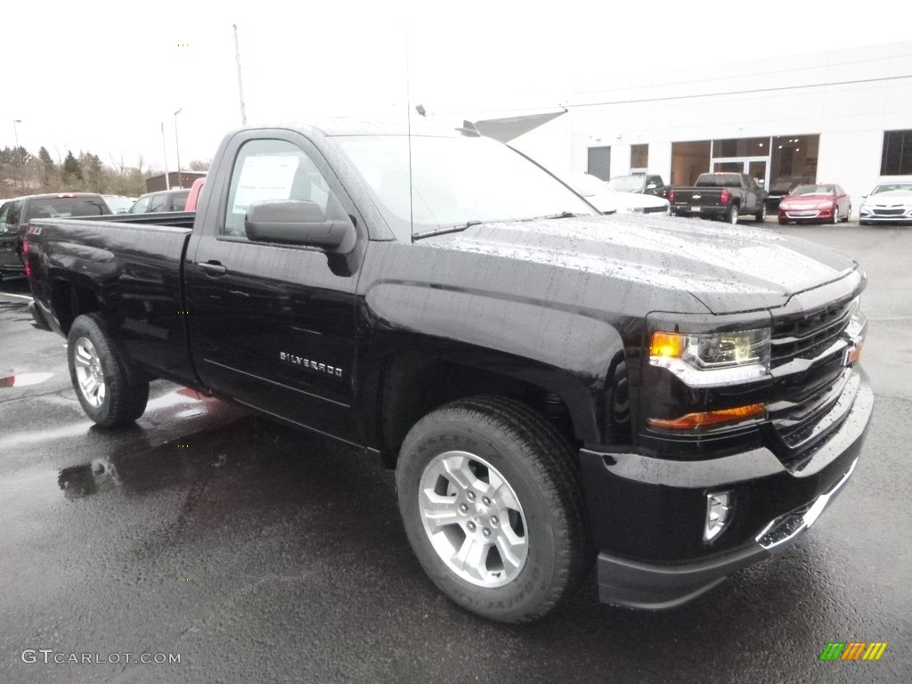 2018 Silverado 1500 LT Regular Cab 4x4 - Black / Jet Black photo #7