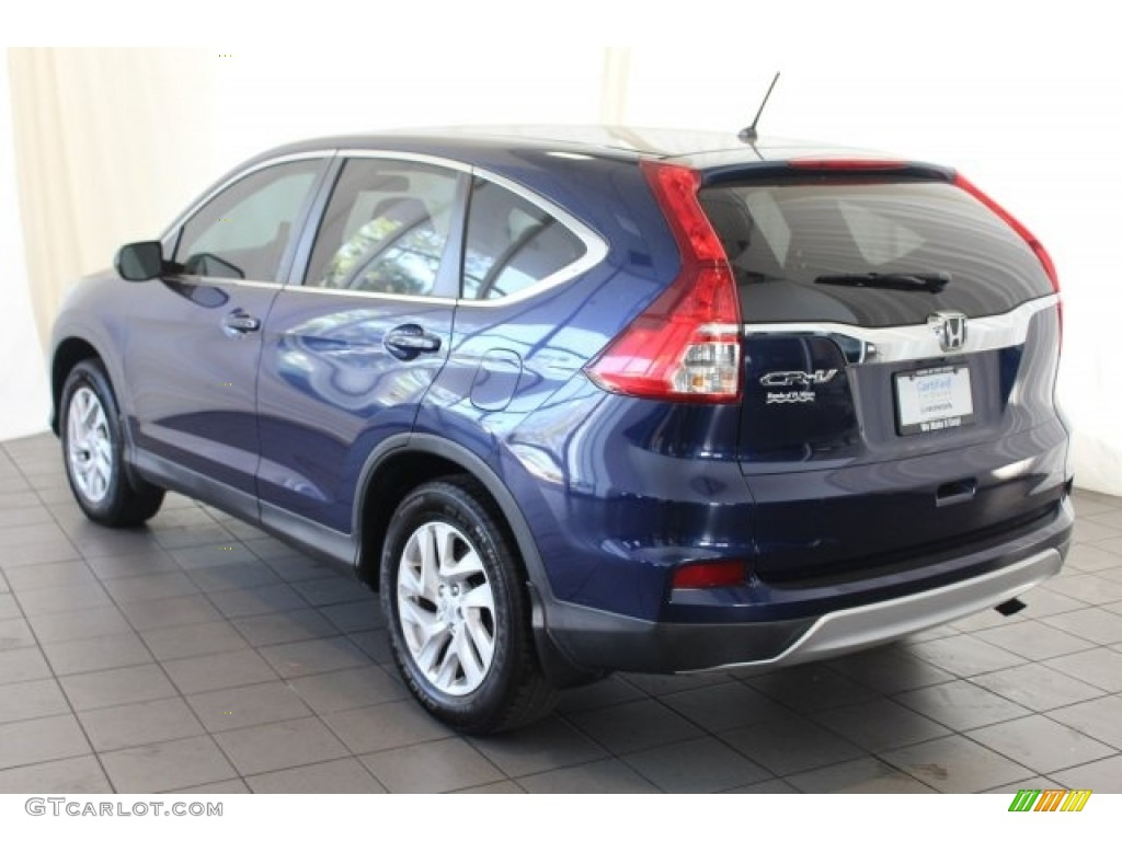 2015 CR-V EX - Obsidian Blue Pearl / Gray photo #7