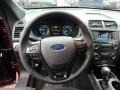 Ebony Black Steering Wheel Photo for 2018 Ford Explorer #125625747
