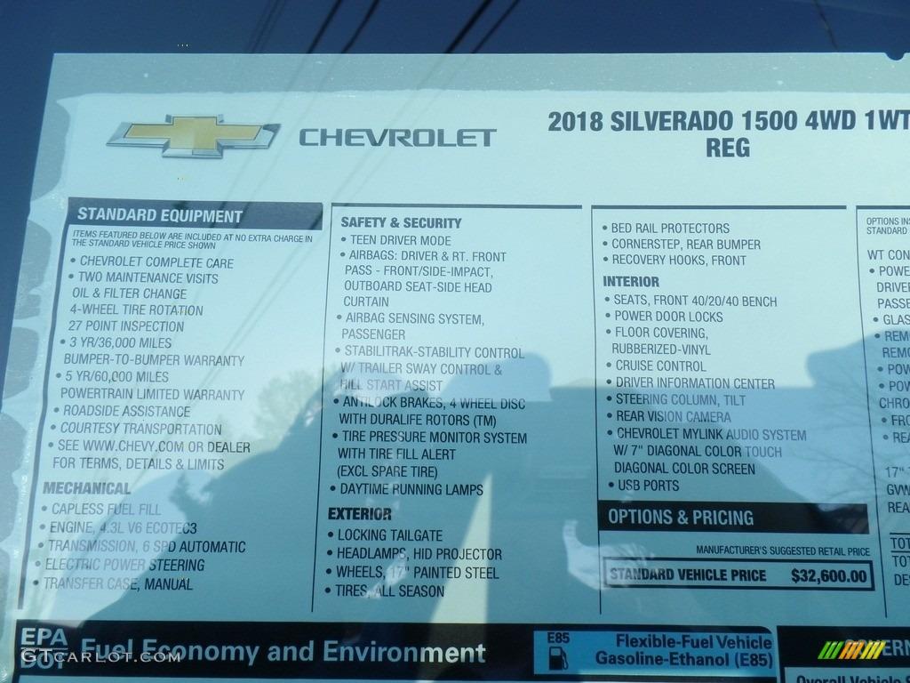 2018 Silverado 1500 WT Regular Cab 4x4 - Graphite Metallic / Dark Ash/Jet Black photo #39