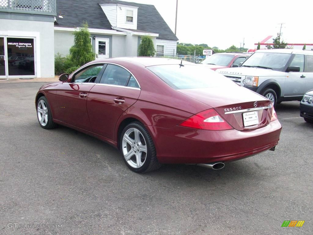 2006 bordeaux red metallic mercedes benz cls 500 12503866. Black Bedroom Furniture Sets. Home Design Ideas