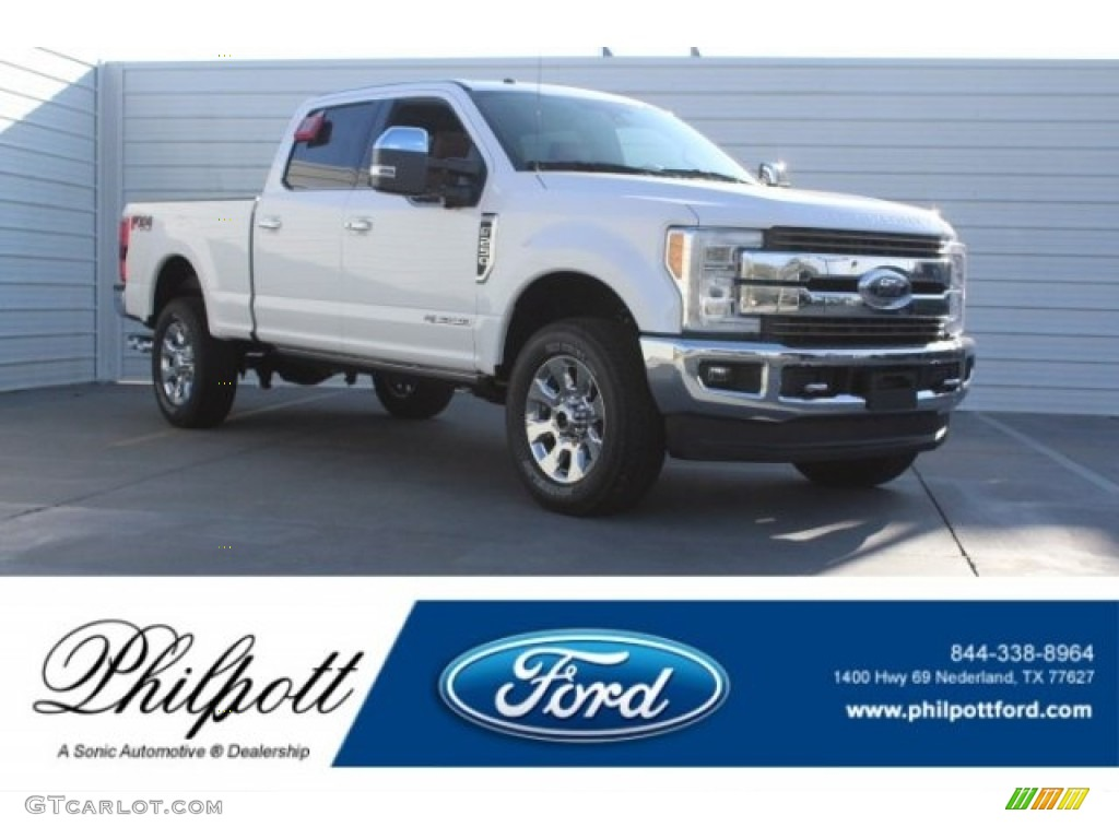 2018 White Platinum Metallic Ford F250 Super Duty King Ranch Crew Cab 4x4 #125683747 | GTCarLot ...