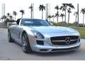 Iridium Silver Metallic 2012 Mercedes-Benz SLS AMG Roadster