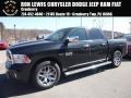 Brilliant Black Crystal Pearl 2018 Ram 1500 Laramie Longhorn Crew Cab 4x4