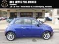 Azzuro (Blue) 2013 Fiat 500 c cabrio Pop