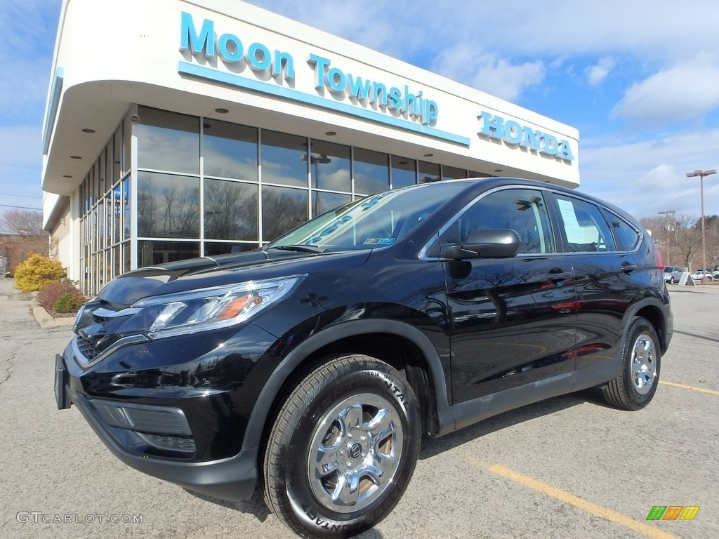 2015 CR-V LX AWD - Crystal Black Pearl / Beige photo #1