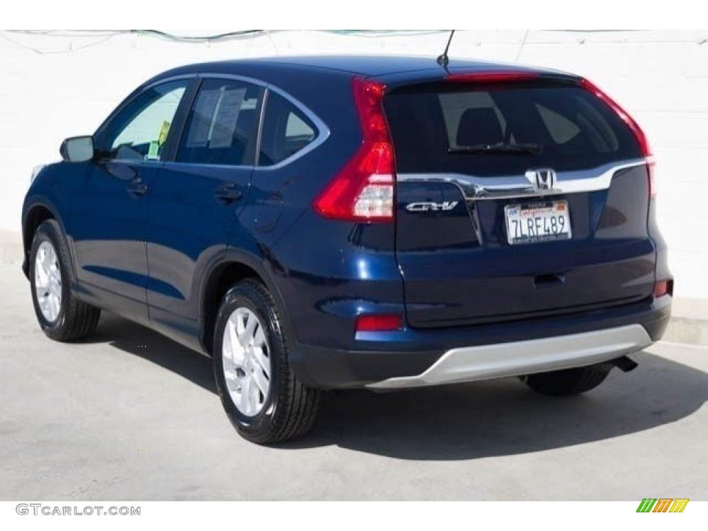 2015 CR-V EX - Obsidian Blue Pearl / Gray photo #2