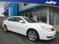 Cream White 2008 Saturn Aura XE 3.5