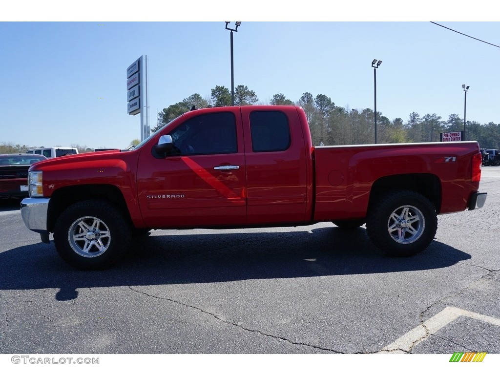 2013 Silverado 1500 LT Extended Cab - Victory Red / Ebony photo #4
