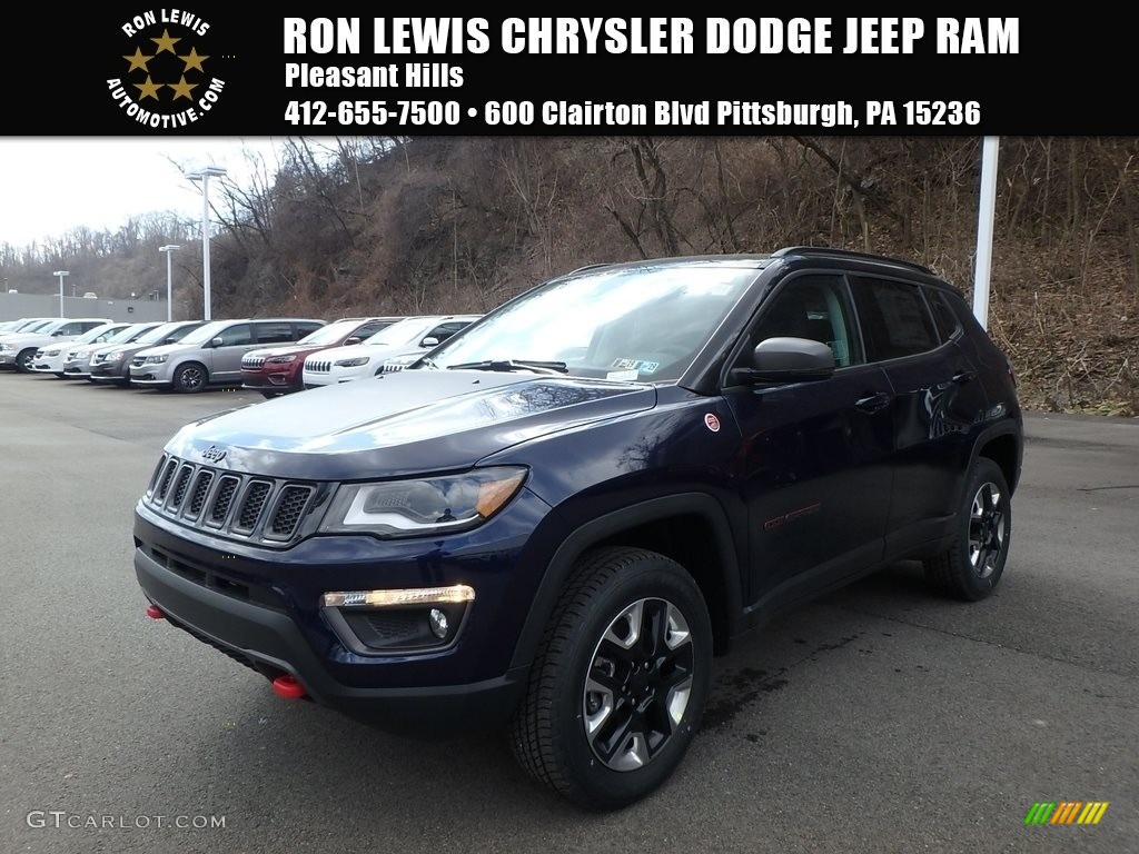 2018 Jazz Blue Pearl Jeep Compass Trailhawk 4x4 126028992 Gtcarlot Com Car Color Galleries