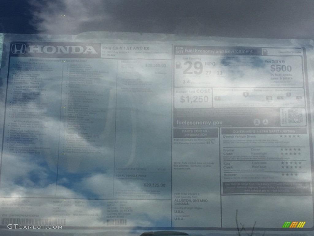 2018 CR-V EX AWD - Crystal Black Pearl / Black photo #27