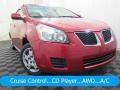 Red Hot Metallic 2009 Pontiac Vibe 2.4 AWD