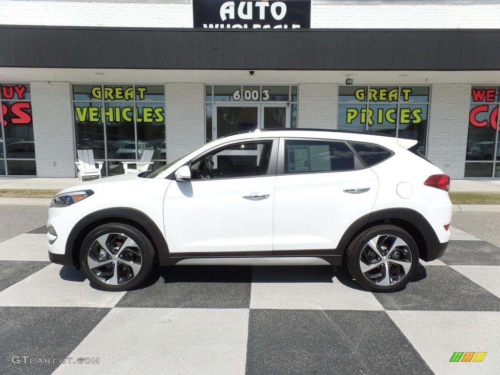 2018 Dazzling White Hyundai Tucson Limited 126166343 Gtcarlot Com Car Color Galleries
