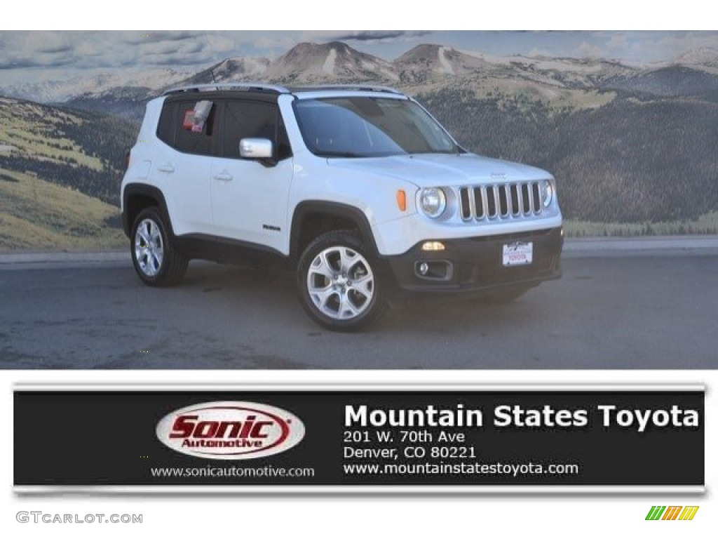 2016 Renegade Limited 4x4 - Alpine White / Black photo #1