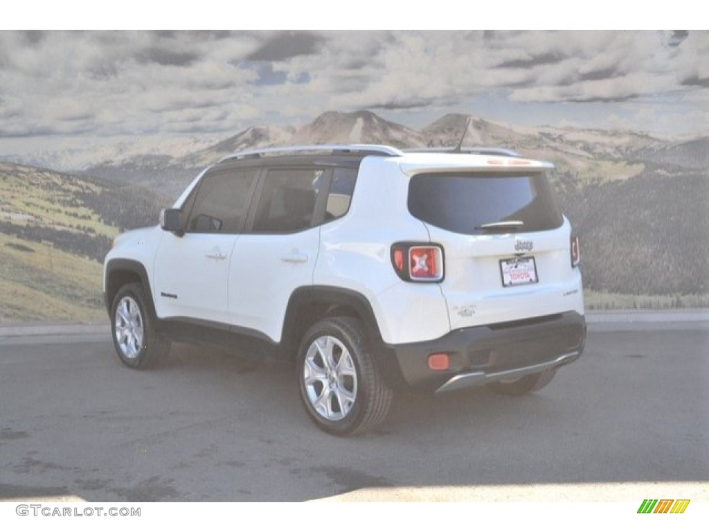 2016 Renegade Limited 4x4 - Alpine White / Black photo #8