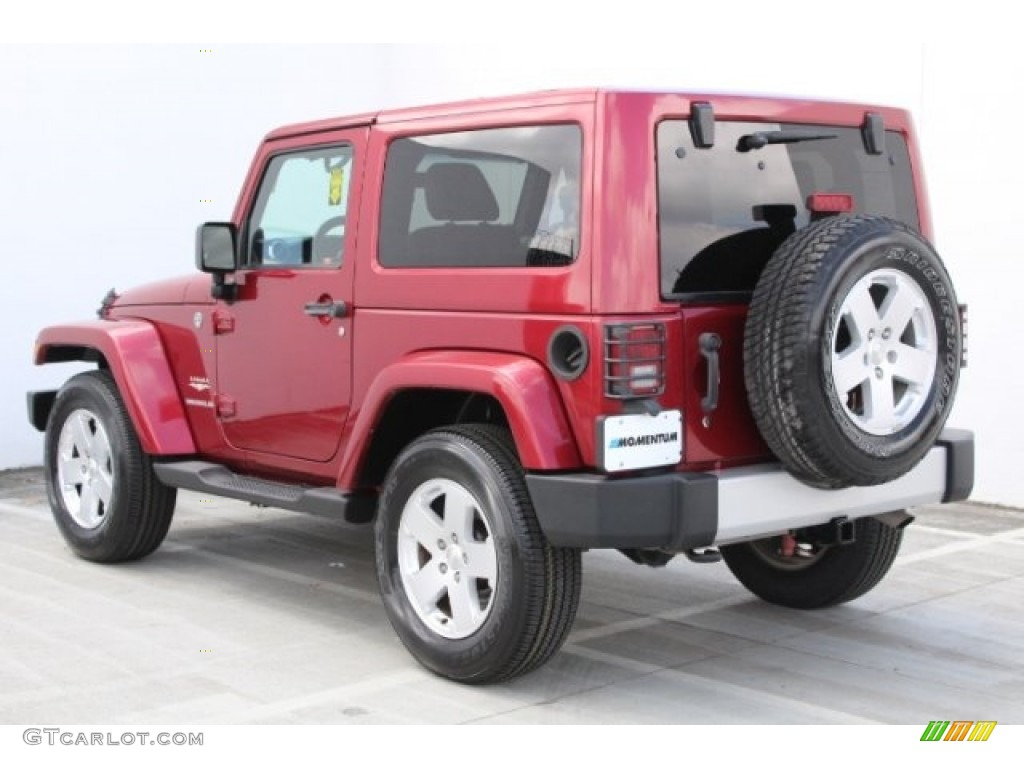 2011 Wrangler Sahara 4x4 - Deep Cherry Red Crystal Pearl / Black/Dark Saddle photo #6