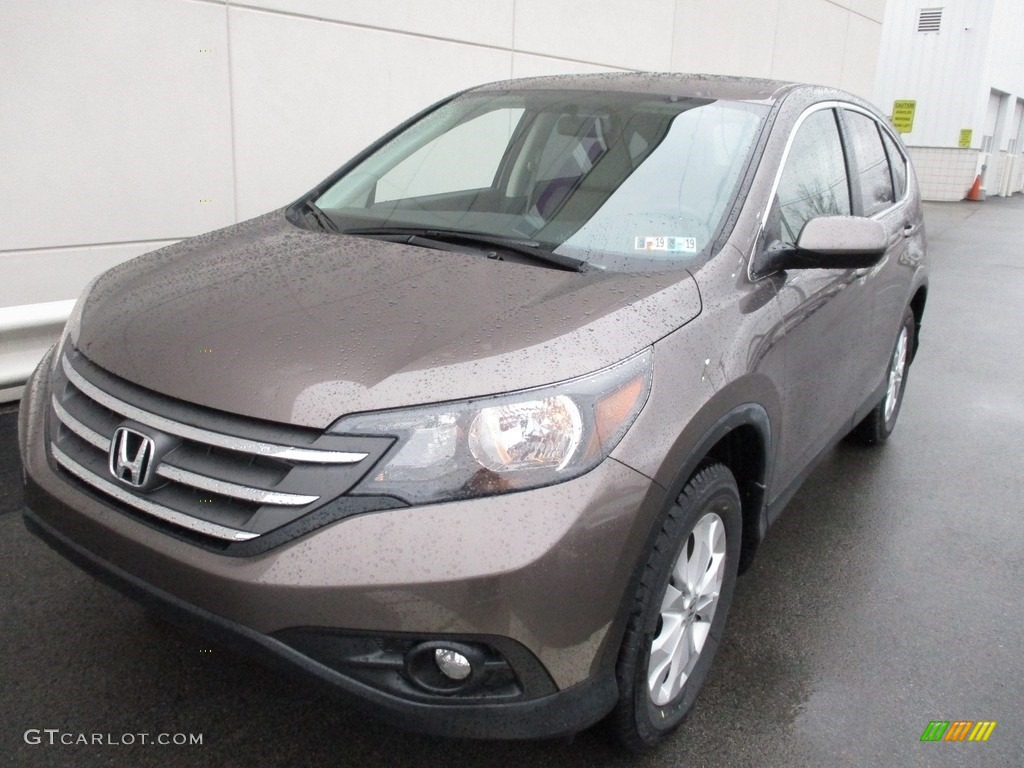 2014 CR-V EX AWD - Urban Titanium Metallic / Beige photo #9