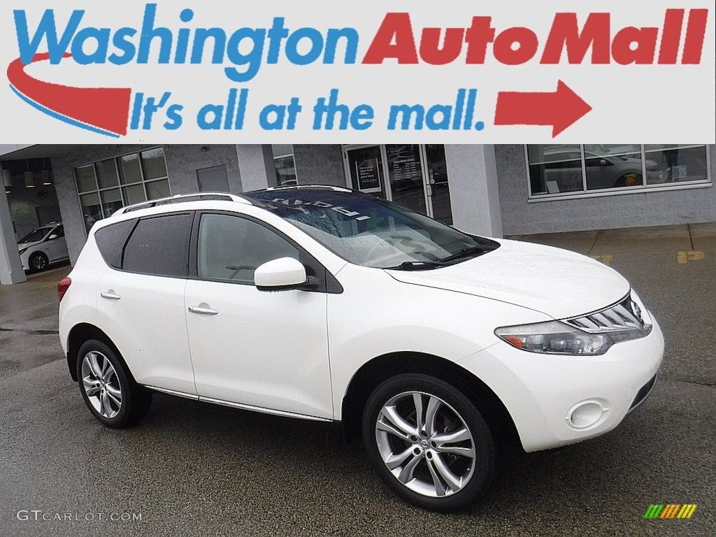 2010 Murano LE AWD - Glacier White Pearl / Beige photo #1