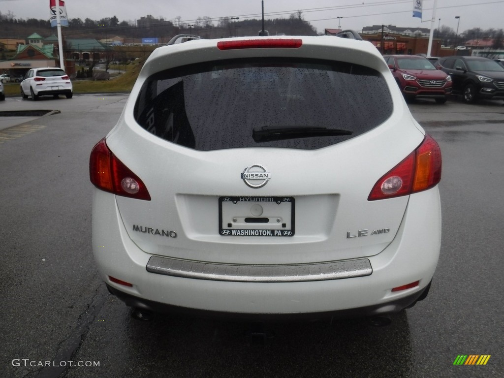 2010 Murano LE AWD - Glacier White Pearl / Beige photo #9