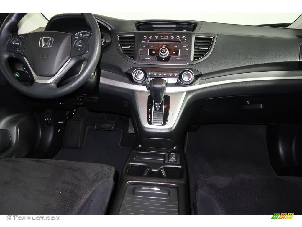 2012 CR-V EX 4WD - Crystal Black Pearl / Gray photo #14
