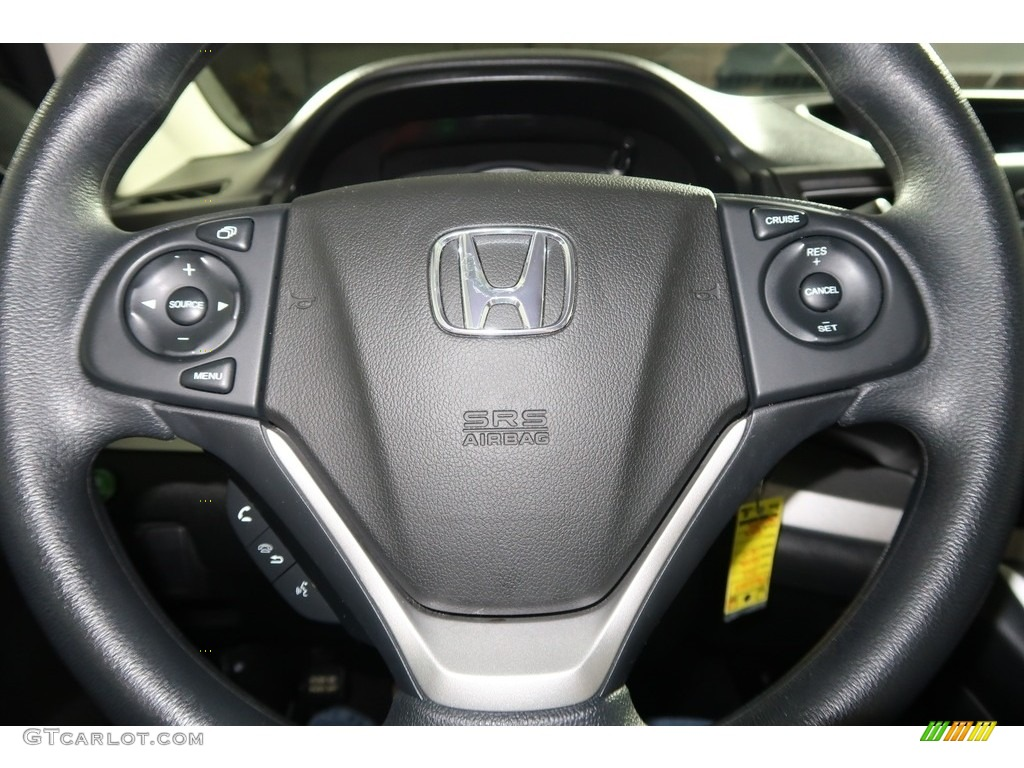 2012 CR-V EX 4WD - Crystal Black Pearl / Gray photo #15