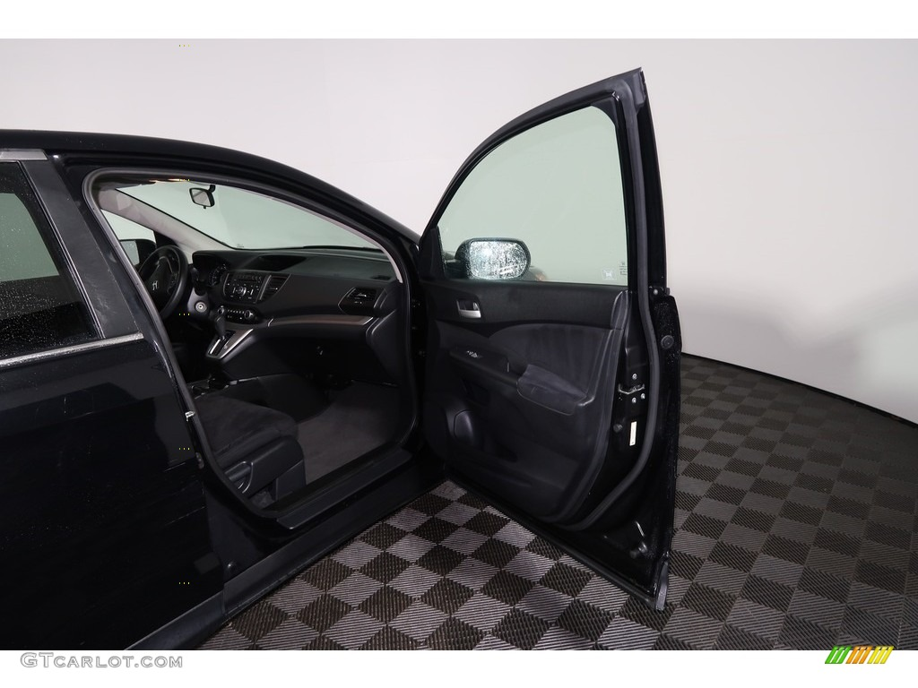 2012 CR-V EX 4WD - Crystal Black Pearl / Gray photo #28
