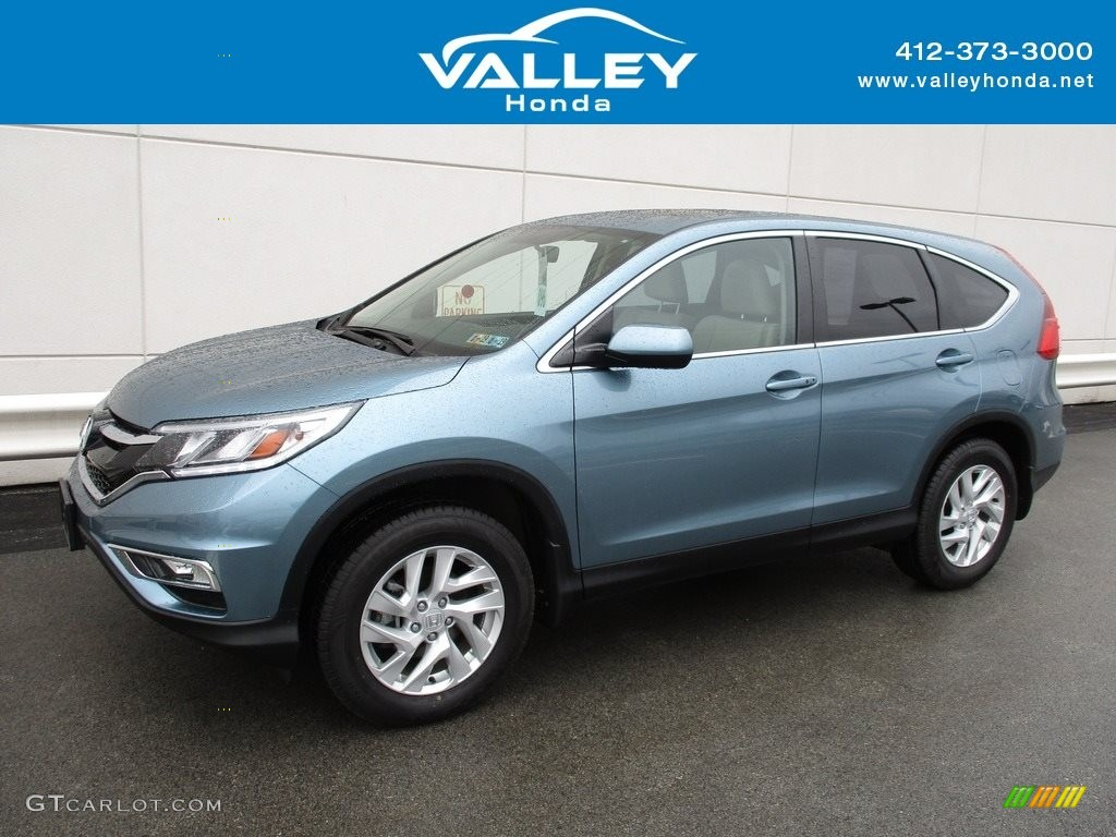 2015 CR-V EX - Mountain Air Metallic / Beige photo #1