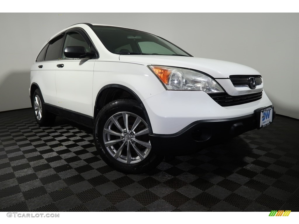 2007 CR-V LX 4WD - Taffeta White / Black photo #1