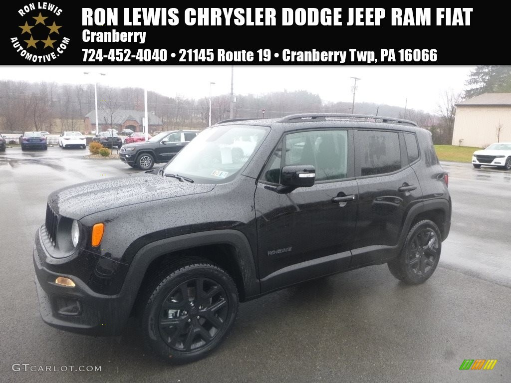 2018 Renegade Latitude 4x4 - Black / Black photo #1