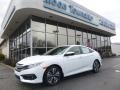 White Orchid Pearl 2018 Honda Civic EX-L Sedan