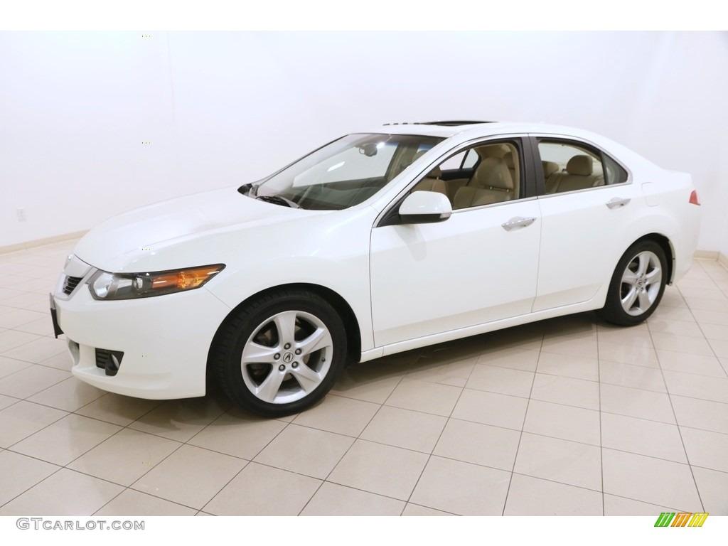 2010 TSX Sedan - Premium White Pearl / Parchment photo #3