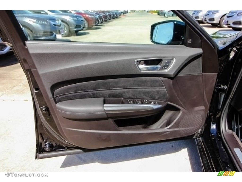 2018 Acura TLX V6 A-Spec Sedan Ebony Door Panel Photo #126508061