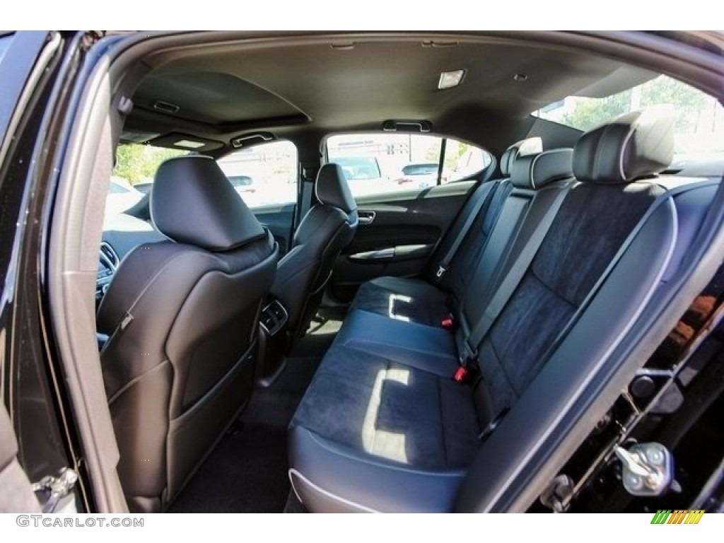 Ebony Interior 2018 Acura TLX V6 A-Spec Sedan Photo #126508094