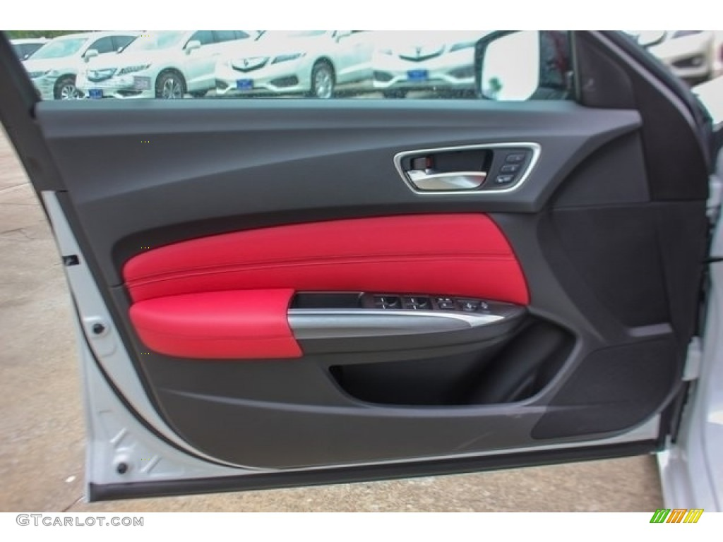 2018 Acura TLX V6 A-Spec Sedan Red Door Panel Photo #126508451