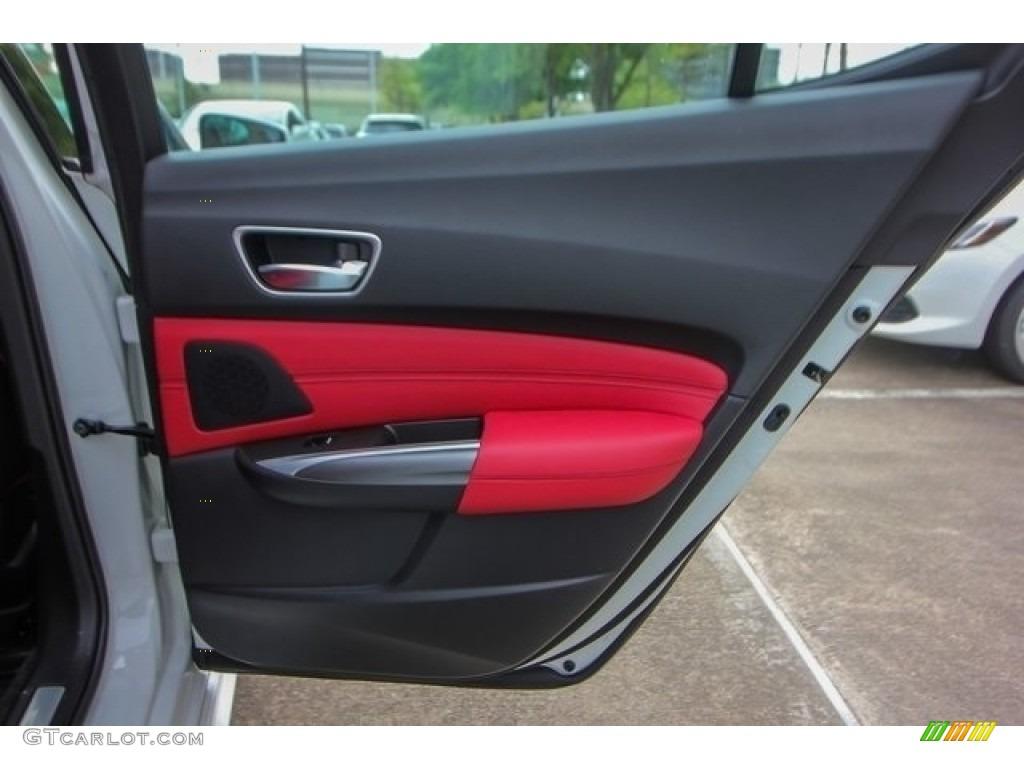 2018 Acura TLX V6 A-Spec Sedan Red Door Panel Photo #126508538