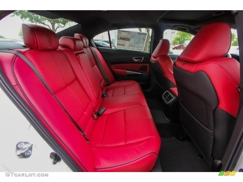 2018 Acura TLX V6 A-Spec Sedan Rear Seat Photo #126508550
