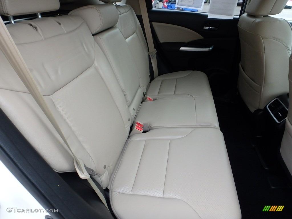 2015 CR-V Touring - White Diamond Pearl / Beige photo #14