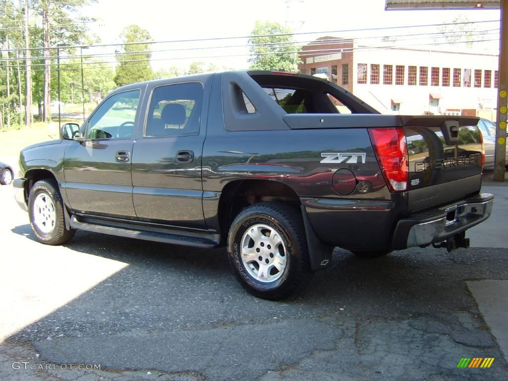 2004 dark gray metallic chevrolet avalanche 1500 z71 4x4 12635025 photo 10. Black Bedroom Furniture Sets. Home Design Ideas