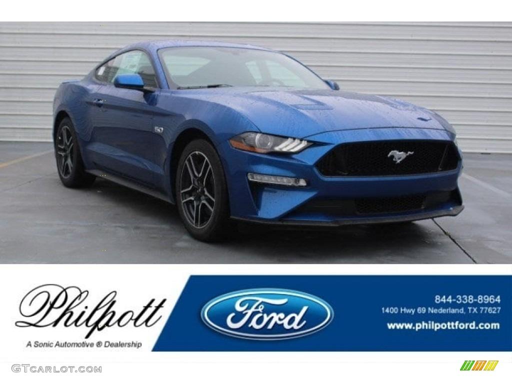 2018 Mustang GT Fastback - Lightning Blue / Ebony photo #1