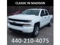 2018 Summit White Chevrolet Silverado 1500 Custom Crew Cab 4x4  photo #1