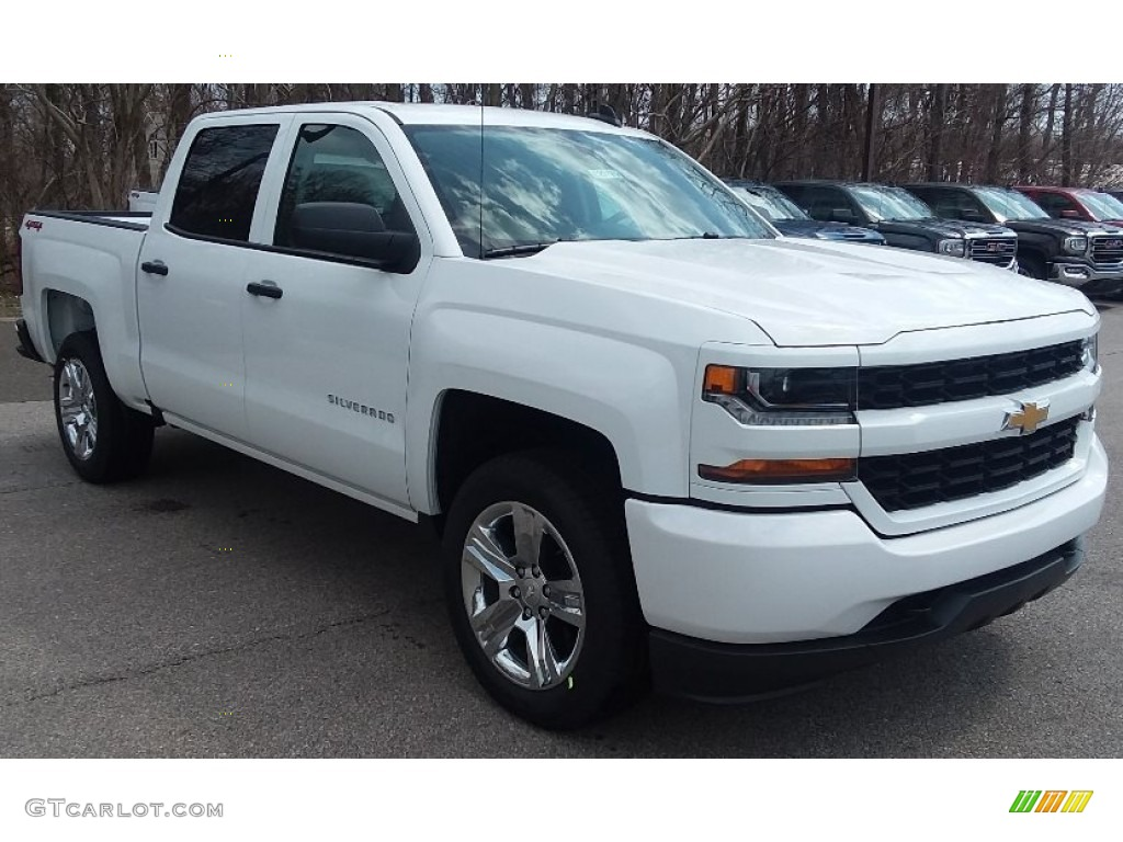 2018 Silverado 1500 Custom Crew Cab 4x4 - Summit White / Dark Ash/Jet Black photo #3