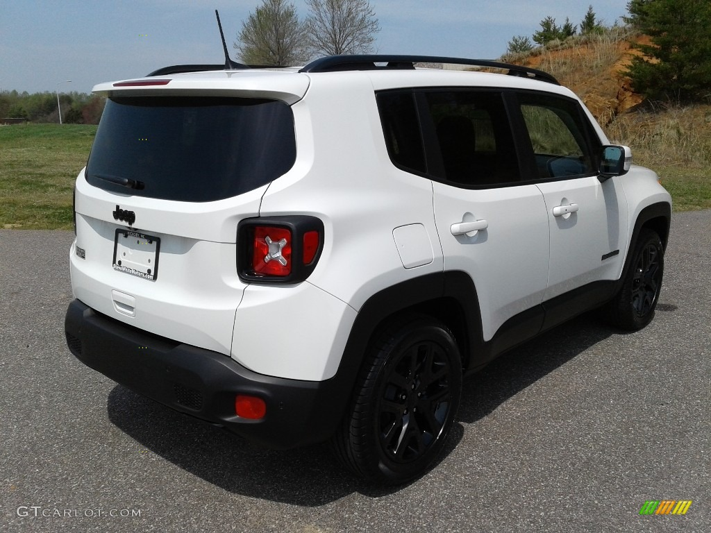 2018 Renegade Latitude - Alpine White / Black photo #6