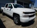 2018 Summit White Chevrolet Silverado 1500 Custom Crew Cab  photo #1