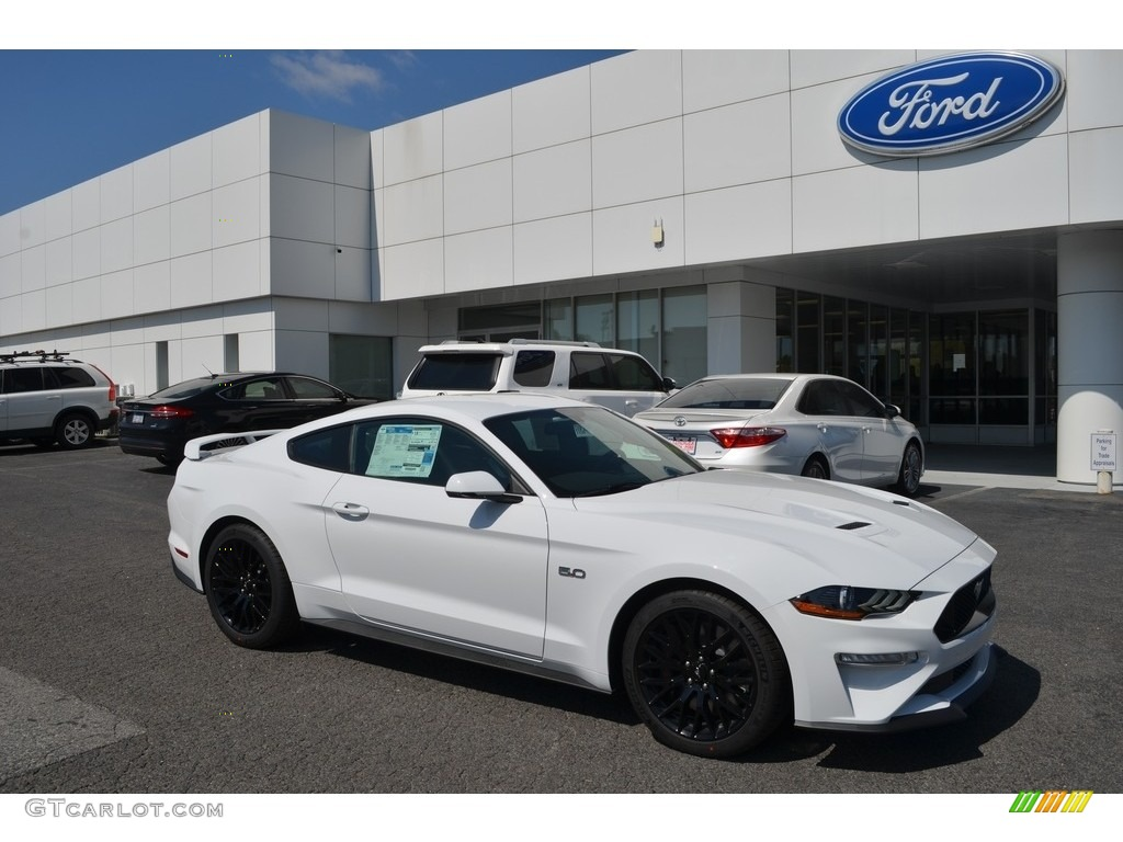 2018 Mustang Gt Premium Fastback Oxford White Ebony Photo 1