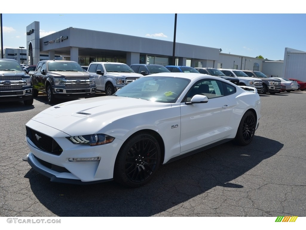 2018 Mustang Gt Premium Fastback Oxford White Ebony Photo 3