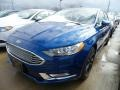 2018 Lightning Blue Ford Fusion SE  photo #1